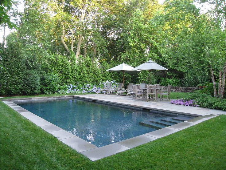 Inground Pool Landscaping Ideas With Natural Elements Interior