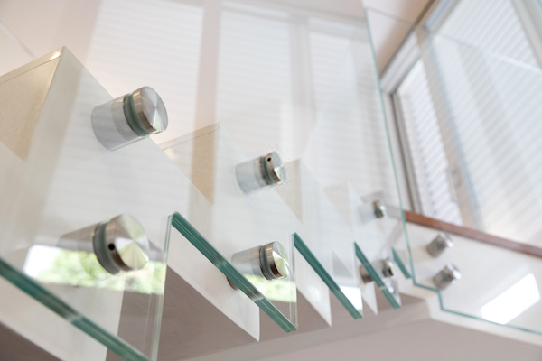 glass railings stairs